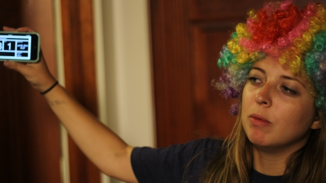 "Assistant director/co-writer Emily Hughes behind the scenes of ""Big Kids."" Photo by Jeremy Hasson"