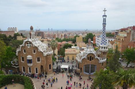 Aerial view of Parc Guell in Barcelona. Photo by Dima Horda.