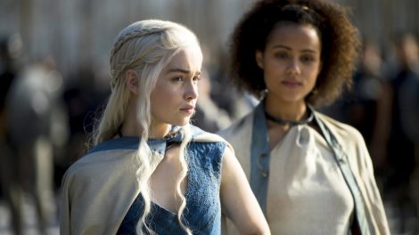 """Emilia Clarke stars as Daenerys Targaryen, the Mother of Dragons, in HBO's hit """"Game of Thrones."""" The show will continue into its fifth season next year. Photo courtesy of zap2it.com"""