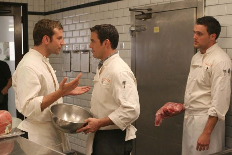 """Bradley Cooper and Nicholas Brendon starred in """"Kitchen Confidential,"""" a New York """"foodie"""" show that got cancelled in 2006 after just one season on air. Photo courtesy of dennysisforwinners.wordpress.com"""