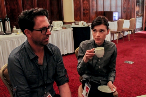 """Actor/co-writer Craig Behenna and actress Tilda Cobham-Hervey from Nick Matthews' """"One Eyed Girl"""" sat down with Shuffle last Friday before the world premiere screening. Photo by Barbi Barbee."""