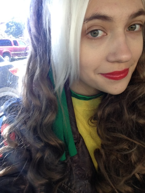 "Local cosplayer and Shuffle's Anime & Manga writer recently cosplayed as Rogue from ""X-Men"" at Austin Comic Con this month. Here she dons the don for her cosplay. Photo by Taylor Boswell."