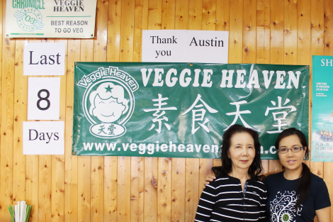 Mrs. Chen and her daughter Stacy Chen run Veggie Heaven, a family-owned for the past 16 years. Photo by Barbi Barbee