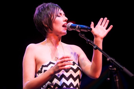 Gina Chavez's CD release concert and benefit. Feb 15, 2014.