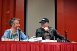 """Sean Gunn and his """"Guardians of the Galaxy"""" costar Michael Rooker. Photo by ChinLin Pan"""