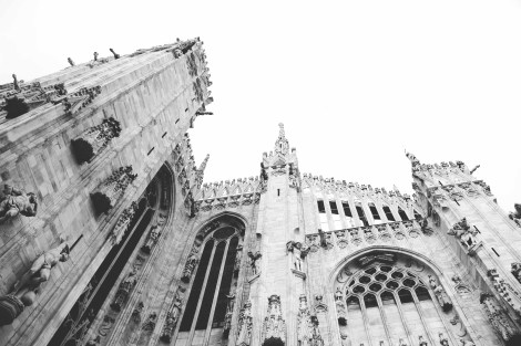 The Duomo in Milan, Italy