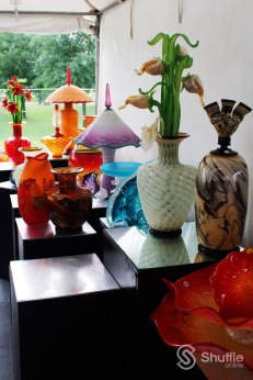 Seattle-based Dan and Joi LaChaussee's blown glass / Photo by Ray Gilford