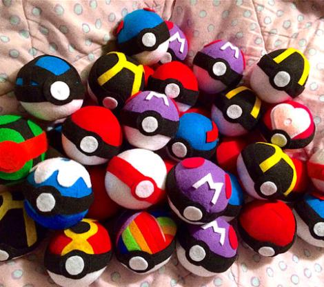1 Customized pokeball plush toys