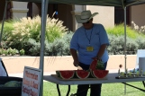 Getting ready for the watermelon eating and seed spitting competition! / Photo by Parker Conley