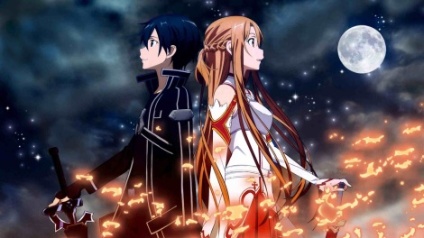 """Kirito and Asuna in season 1 of """"Sword Art Online"""" / Image courtesy of A-1 Pictures and Aniplex USA"""