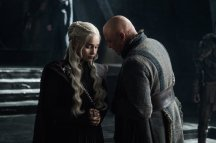 Daenerys Targaryen (Emilia Clarke) and Varys (Conleth Hill)   Photo credit: Helen Sloan/HBO