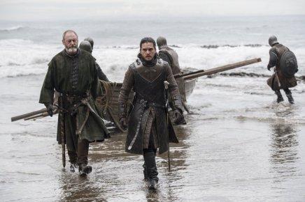 Jon Snow (Kit Harington and Ser Davos (Liam Cunningham)   Photo credit:Macall B. Polay/HBO